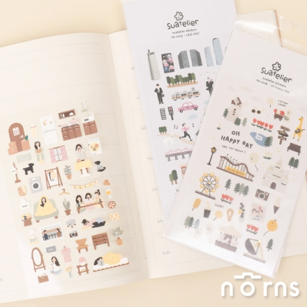 Suatelier stickers Good Time系列- Norns 韓國手作 手帳貼紙