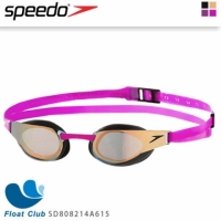 【speedo】成人競技鏡面泳鏡 Fastskin Elite Mirror SD808214A615(粉)