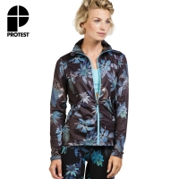 【PROTEST】女 FIT系列 運動外套 (真實黑) SUBLIME 17 FULL ZIP TOP