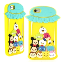 Disney iPhone 6 TSUM TSUM 可愛2D立體保護套-糖果罐