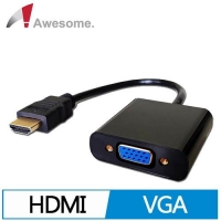 Awesome HDMI TO VGA 轉換線  A00240008