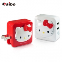 【aibo】Hello Kitty iChargerII AC 轉 USB充電器[CKT-CR02]