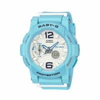 【casio】CASIO BABY-G BGA-180BE-2B 衝浪滑板Beach Colors雙顯流行腕錶/藍色面44mm(BGA-180BE-2B)