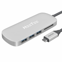 【美國代購】HooToo Shuttle 3.1 Type C MacBook專用USB Hub with Charging, HDMI 4K-Silver(適用 MacBook)
