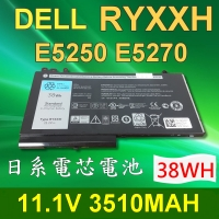 DELL 戴爾 RYXXH 日系電芯 電池 Latitude 12 5000 12 E5250 12E5250 RYXXH 0VY9ND 9P4D2 R5MD0 VY9ND