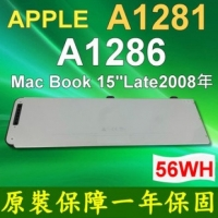 "APPLE A1281 原廠電芯 電池 A1286 A1286-2255 MacBook 15"" Aluminum Unibody(( Late2008 Early 2009 ))"