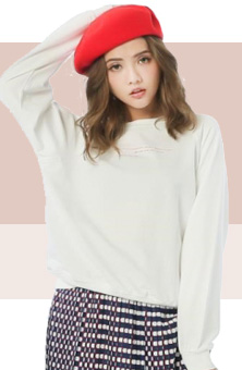 蝴蝶結純色針織衫