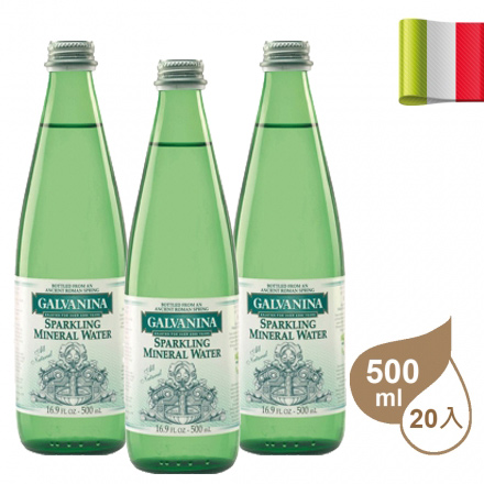 【AQUA-MALL 水廣場】羅馬之源天然氣泡水500ml 20入